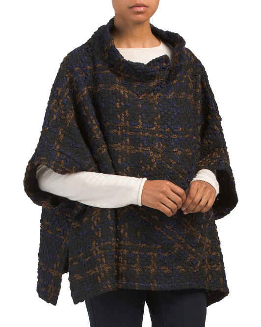 Chunky Knit Poncho With Pockets