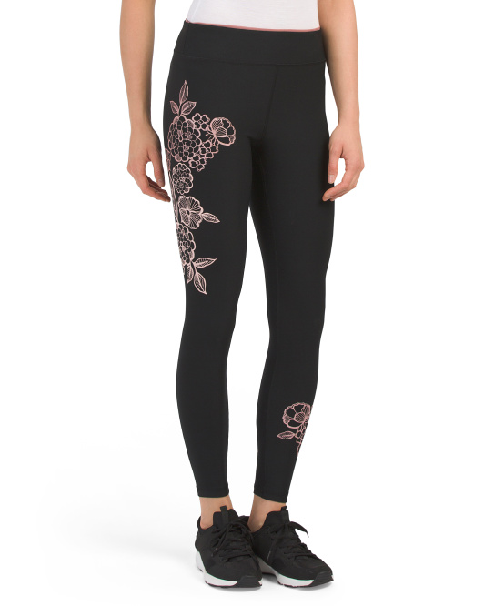 Leggings With Rose Silicon Print