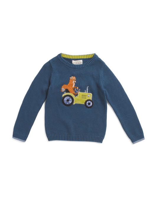 Toddler Boys Tractor Sweater