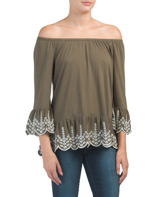 Stephany Embroidered Top