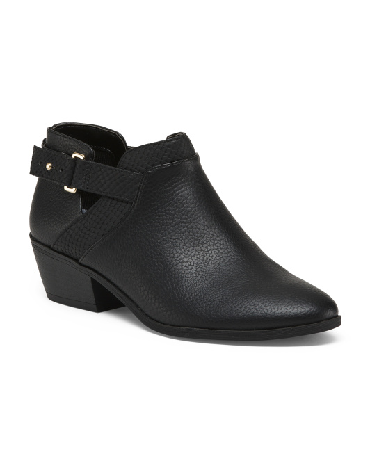 Low Open Side Ankle Booties