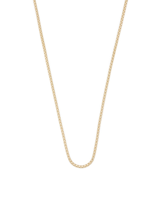 Made In Peru 14k Gold Popcorn Chain Necklace