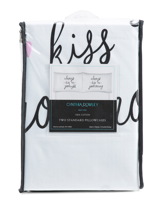 Always Kiss Me Pillowcase Set