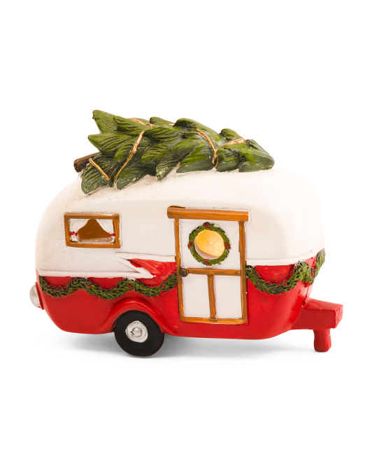 4.5in Christmas Trailer With Led Light