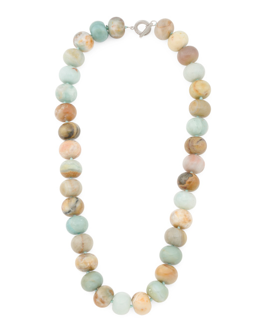 Shoptagr Sterling Silver Amazonite Necklace By Iris Amp Lily