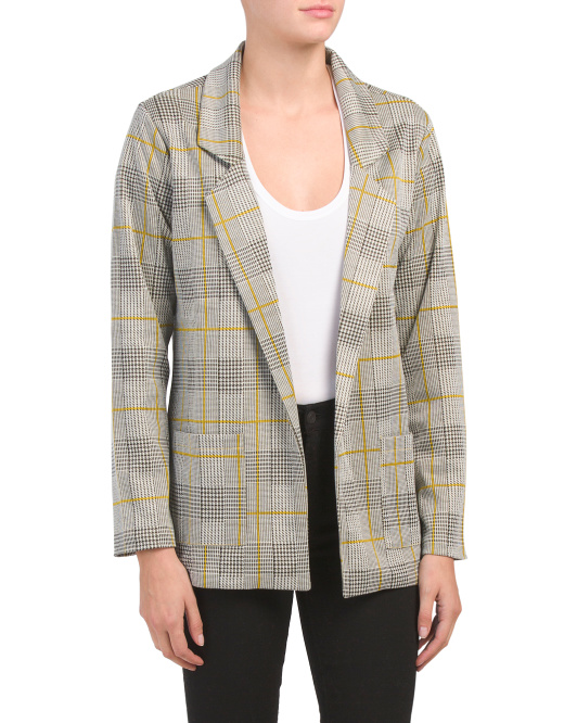 Long Sleeve Double Pocket Collared Blazer