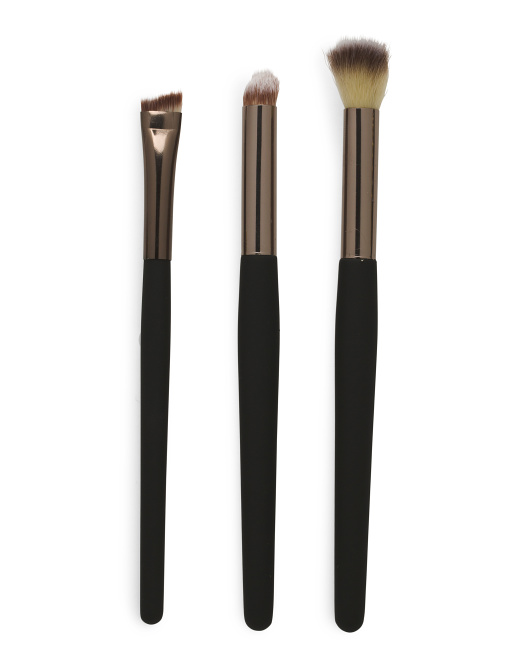 Professional 3 Piece Brush Eye Set W Soft Touch  Handles