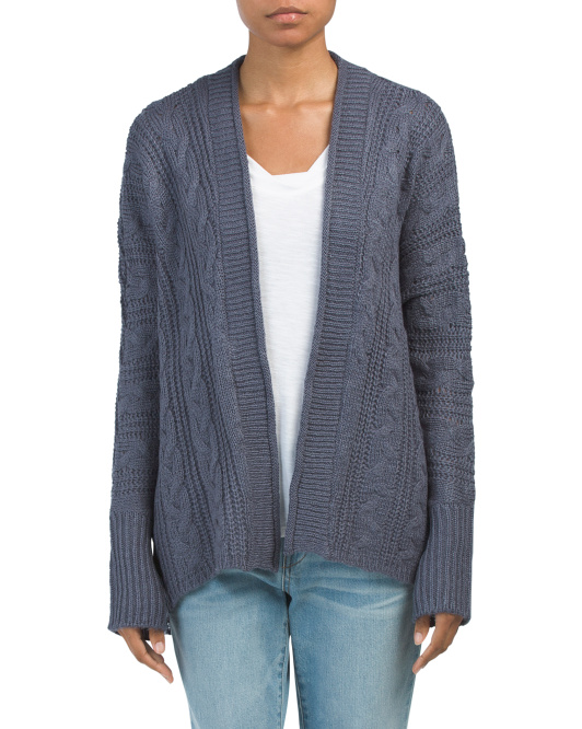 Juniors Cable Dolman Cardigan