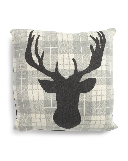 Made In India 20x20 Deer Pillow