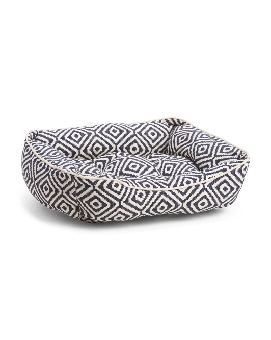 Made In India Diamond Jacquard Pet Bed