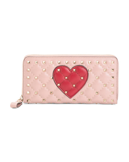 Made In Italy Quilted Leather Clutch