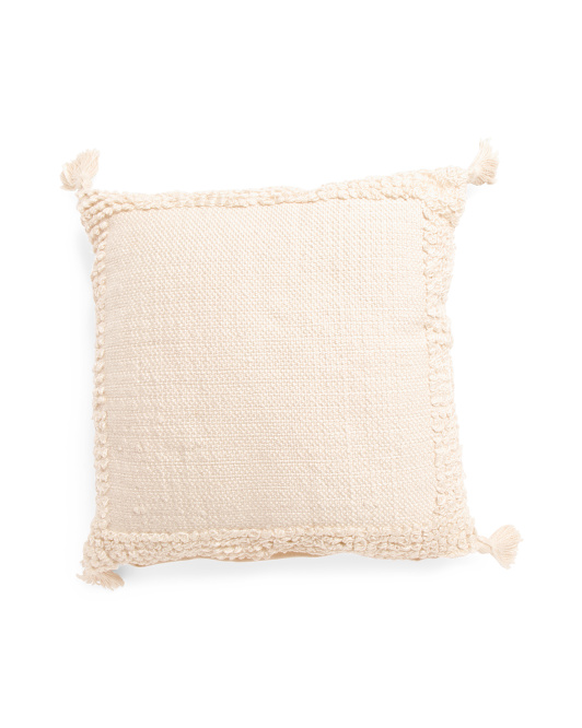 Made In India 20x20 Loop Textured Pillow