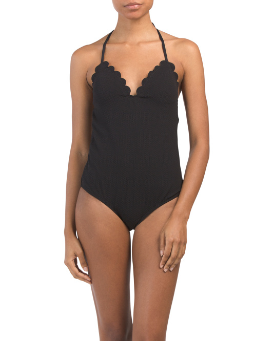 Scalloped Edge One-piece Swimsuit