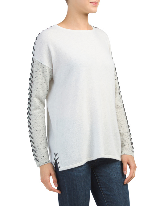 Whip Stitch Cashmere Pullover Sweater