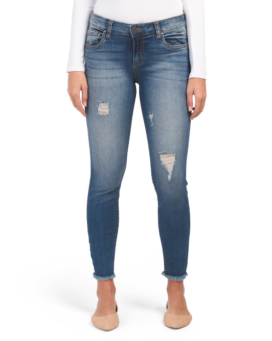 Connie Ankle Skinny Fray Hem Jeans