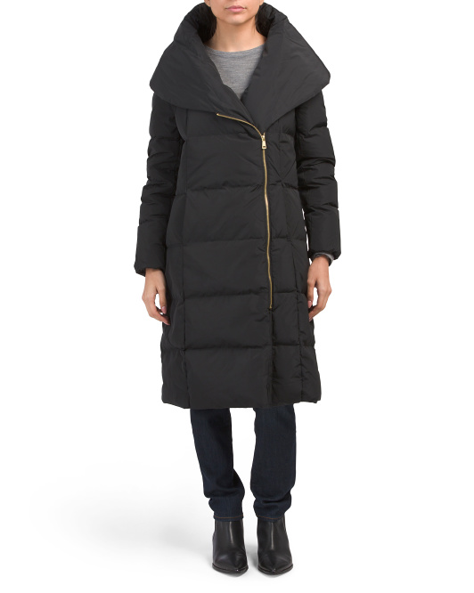 Down Jacket With Puffer Collar