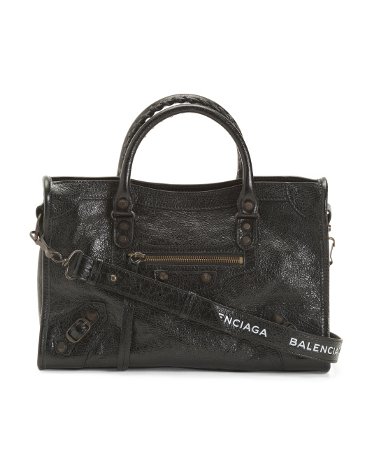 Made In Italy Leather Classic City Satchel