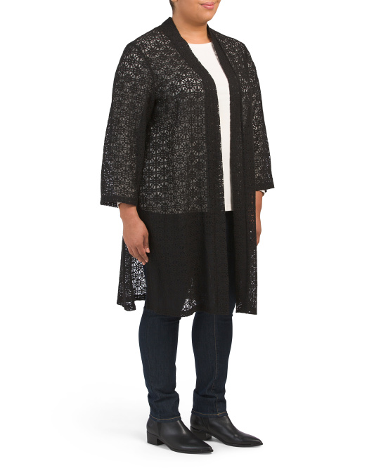 Plus Textured Topper Cardigan