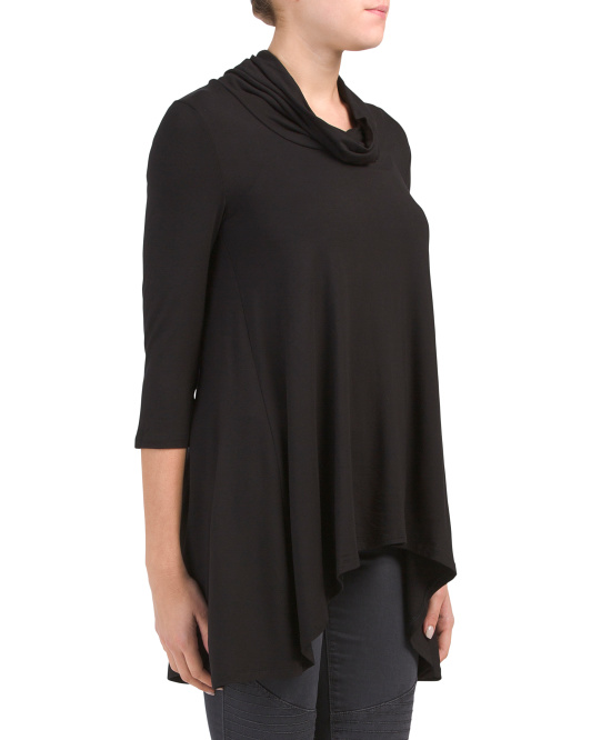 Cowl Neck Swing Tunic
