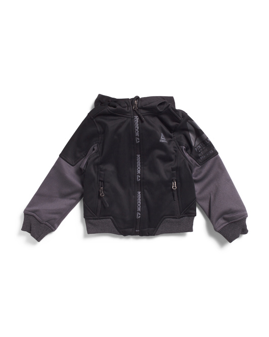 Little Boys Hooded Soft Shell Jacket