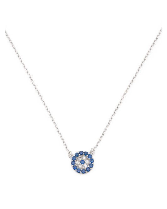 Made In Usa Sterling Silver Evil Eye Necklace