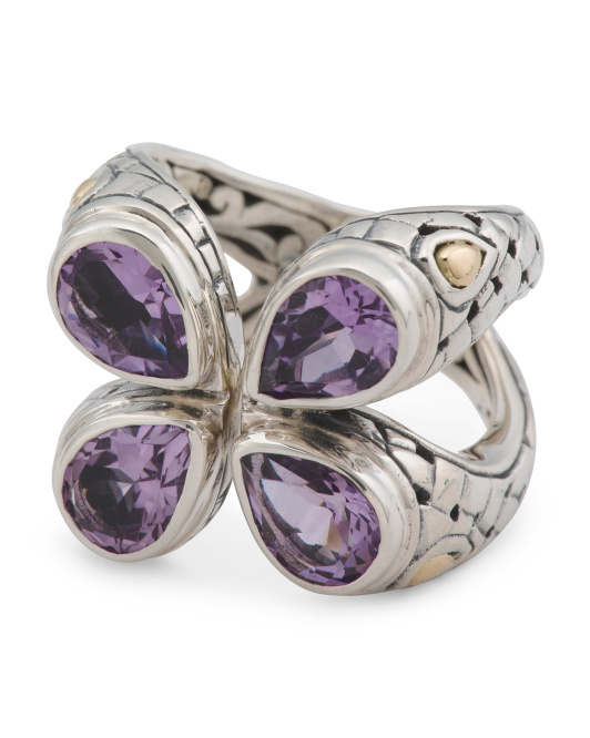 Made In Indonesia Sterling Silver Amethyst Ring