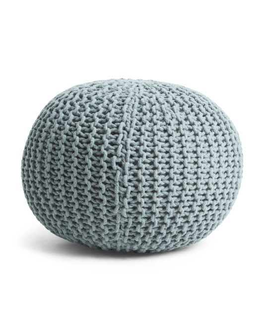 Made In India 16x20 Majestic Knit Pouf