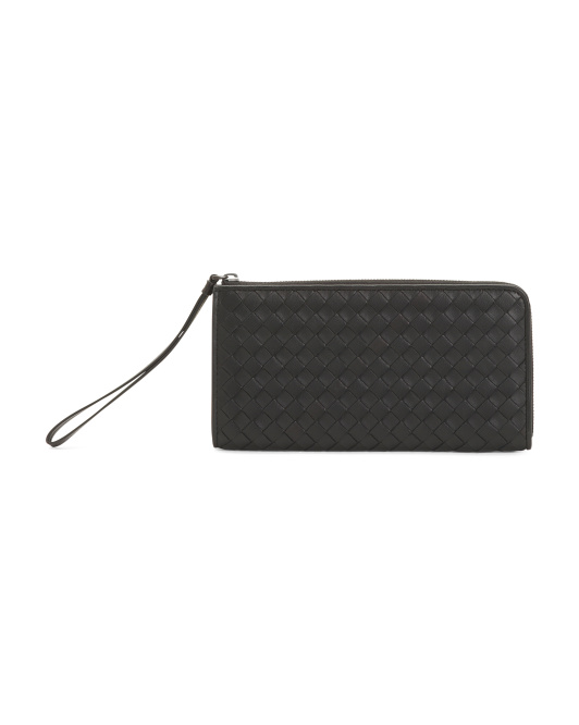 Made In Italy Leather Wallet Wristlet