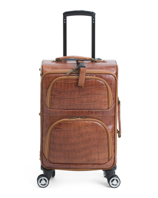 24in Croco Leather Carry-on Spinner