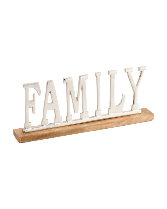 Made In India Family Sign