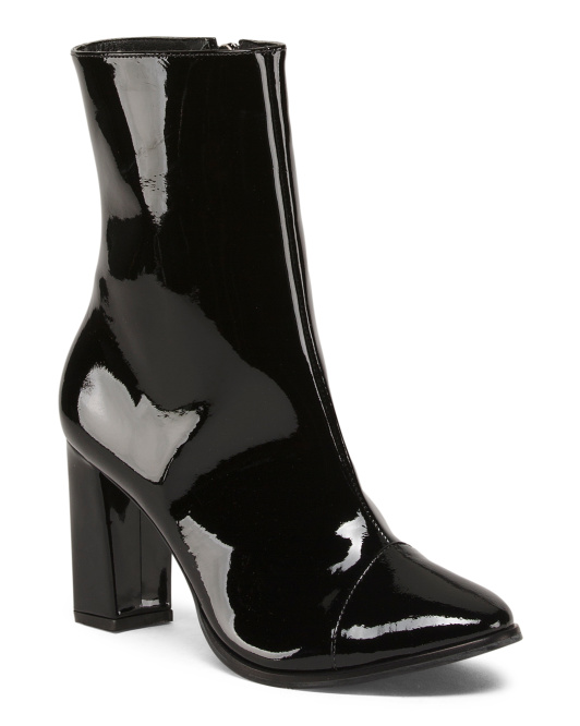 Made In Brazil Patent Leather Ankle Booties
