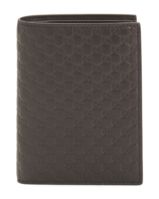 Made In Italy Gg Leather Passport Wallet