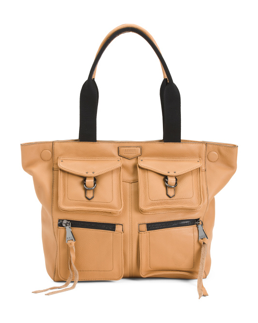 Made In Italy Leather Sergeant Tote
