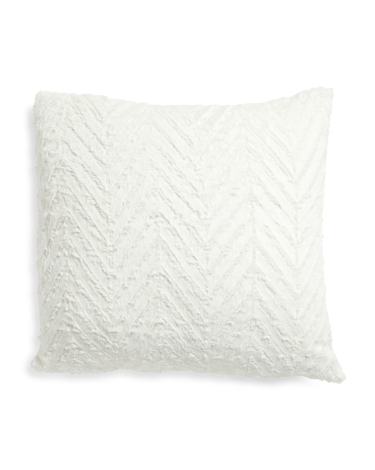 26x26 Oversized Chevron Faux Fur Pillow