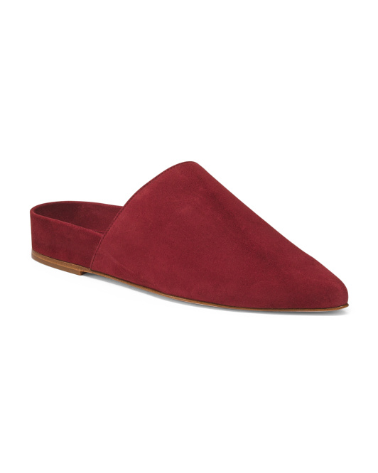 Made In Spain Slip On Suede Mules