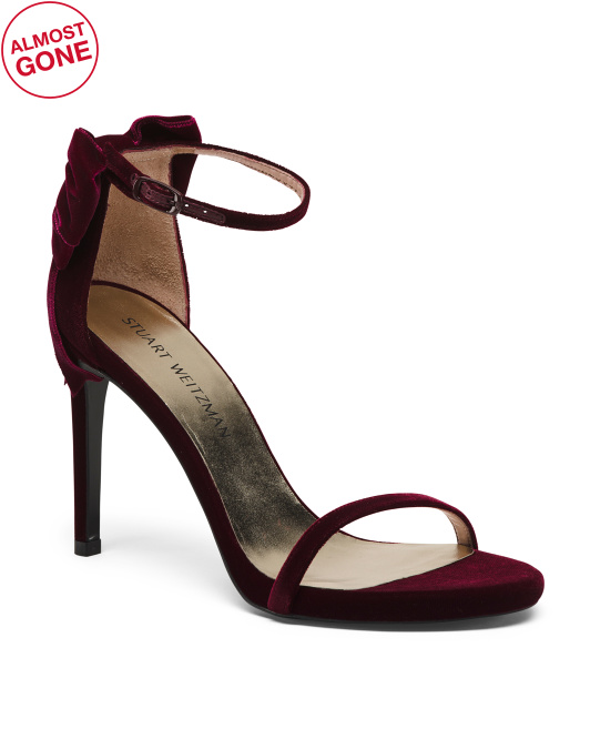 Made In Spain One Band Suede Heels