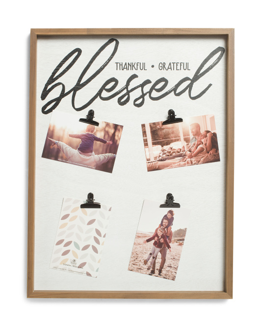 16x21 Blessed 4 Clip Photo Display