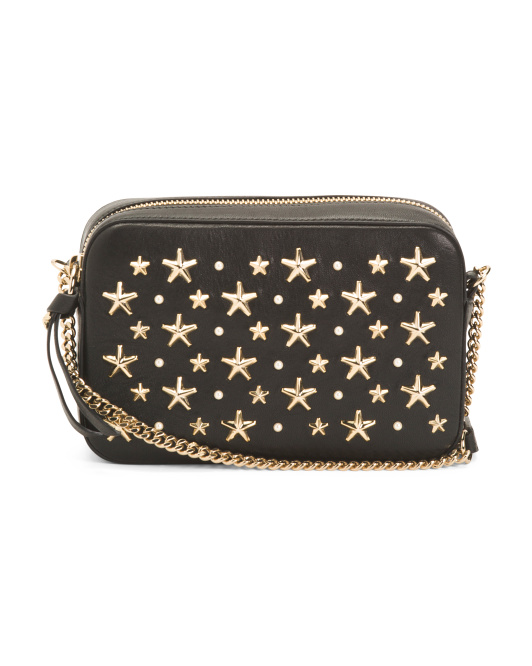 Made In Italy Mini Star Leather Crossbody