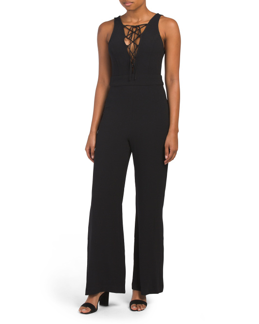 Cara Sleeveless Lace Up Jumpsuit