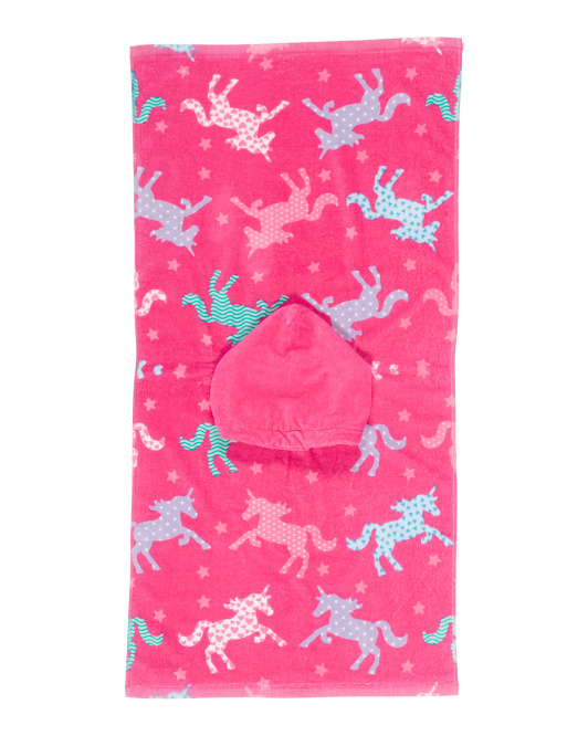 Unicorn Silhouette Beach Towel