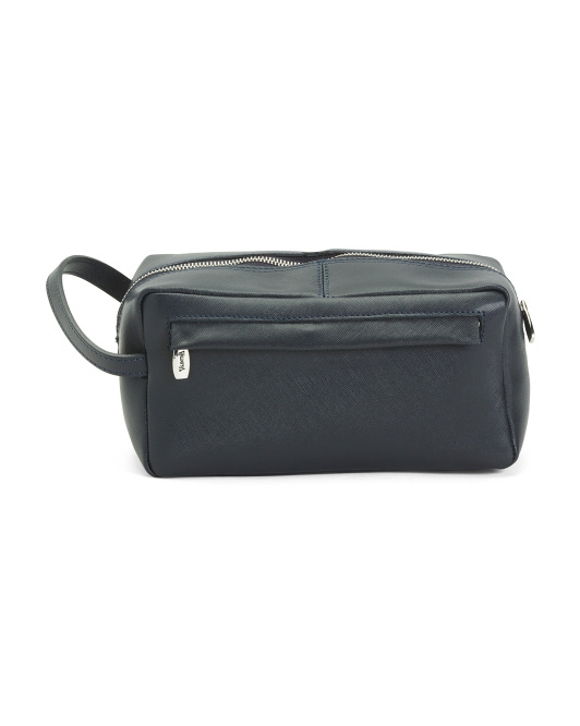 Made In Italy Leather Cosmetic Bag