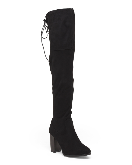 Over The Knee Tie Back Boots