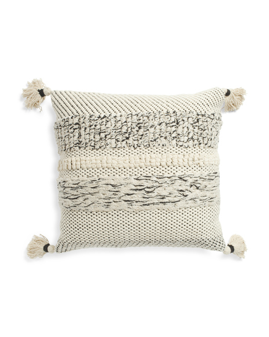 Made In India 20x20 Handloom Woven Pillow