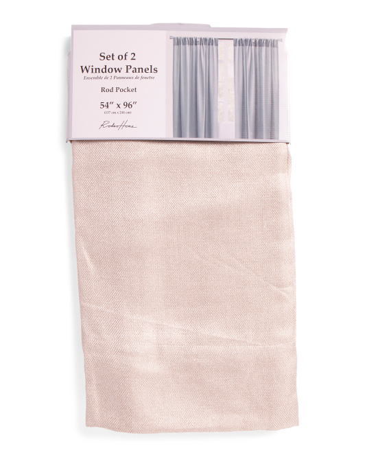 54x96 Set Of 2 Marcelli Linen Look Curtains