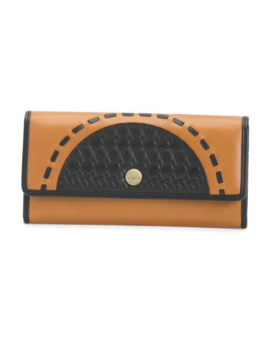 Rfid Rodeo Woven Leather Luna Wallet