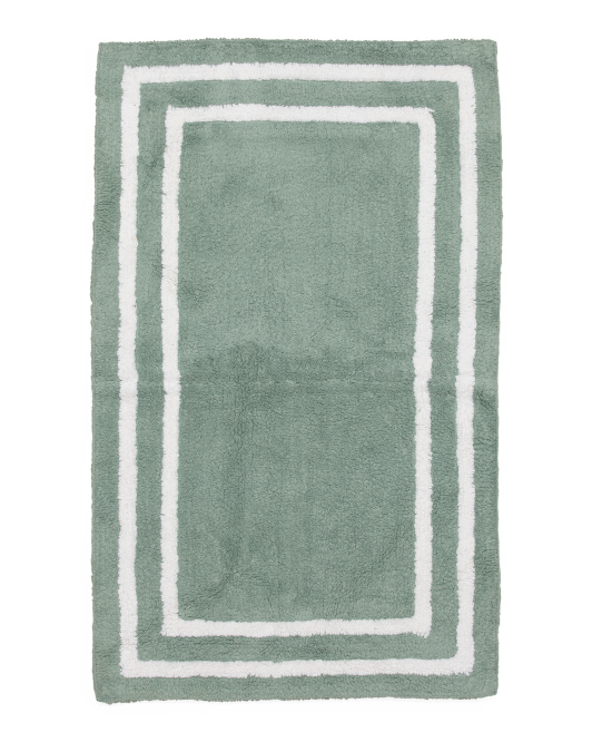 Made In India Double Border Bath Rug