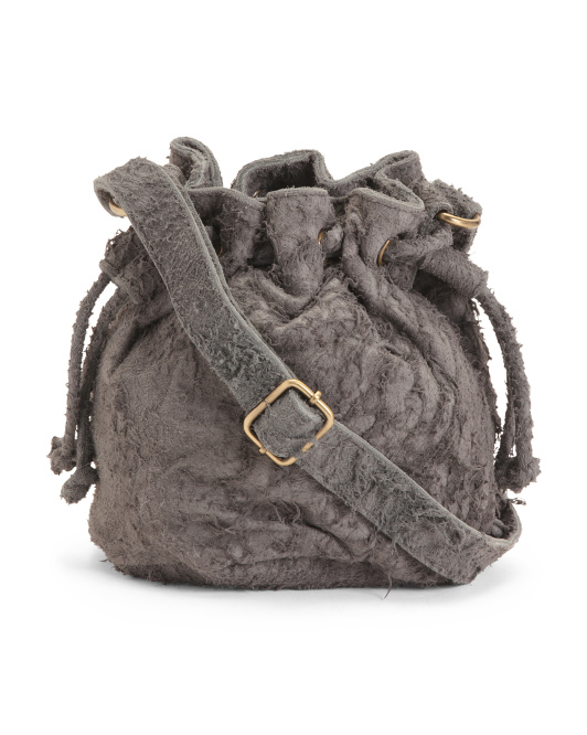 Leather Suede Crossbody