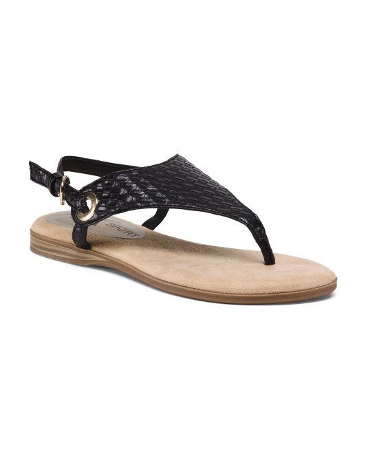 Covered Comfort Flat Sandals