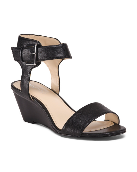 Ankle Detail Wedge Sandals