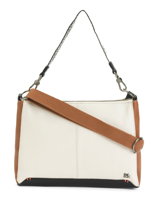 Leather Camila Color Block Crossbody